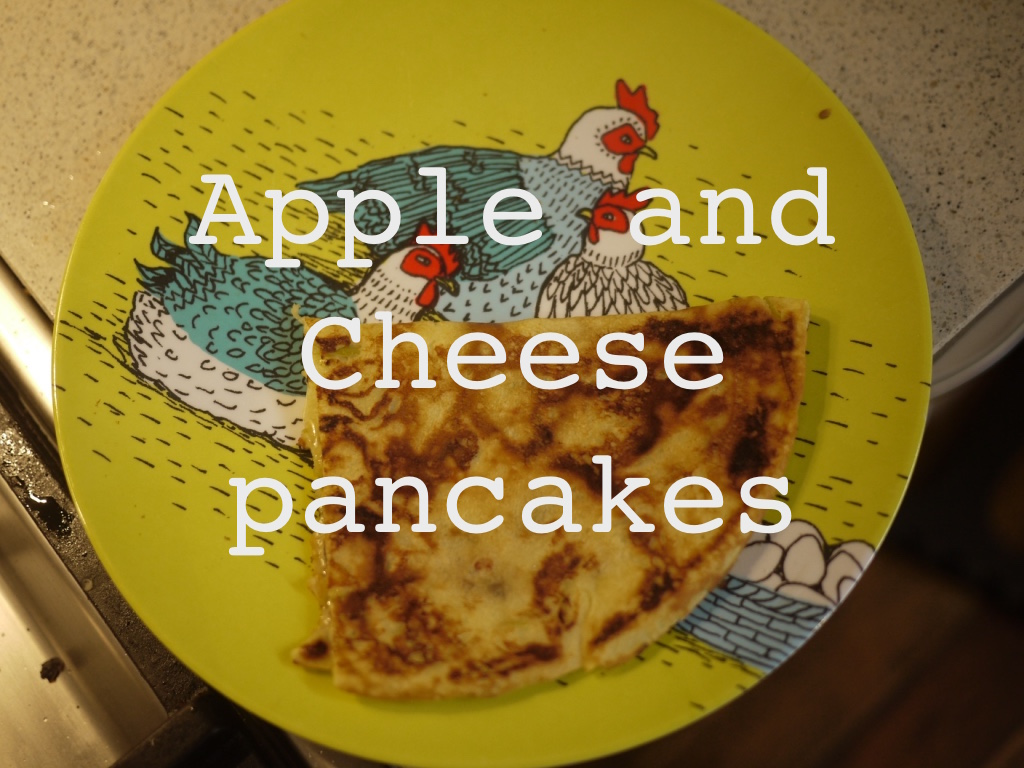 apple and cheese pancakes